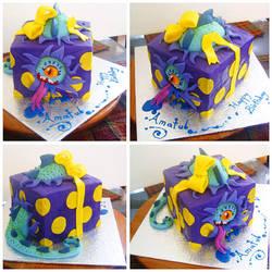 Monster Box cake by Cakerific