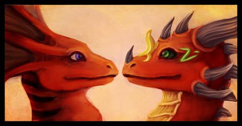 Icon Commission: Dragon Love by Fyrrea