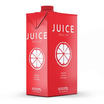 Free Vanilla Juice Packaging Mockup PSD by Freebiedesign