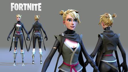 Porting: Fortnite - Female Ninja by trikzme