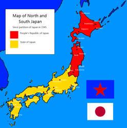 Divided Japan since 1945 by kyuzoaoi