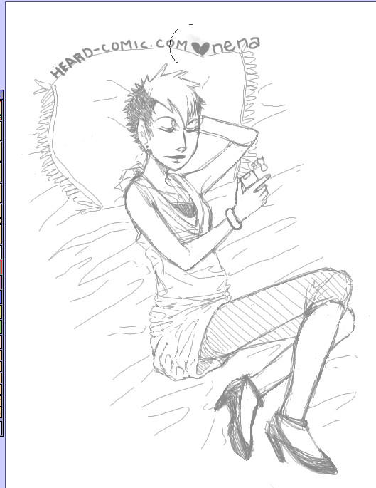 Hannah - Sleeping in heels by BlinkyTheRed