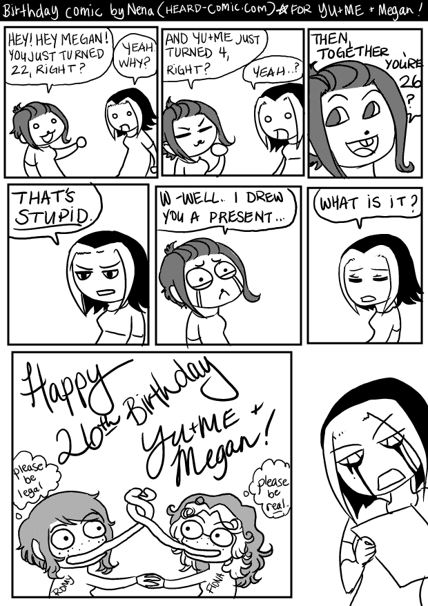 YU+ME Birthday Comic by BlinkyTheRed