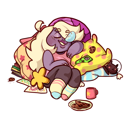 bc I love drawing Amethyst and also pillows