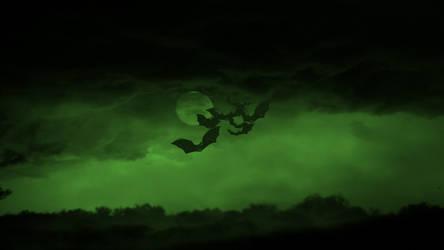 Bat Moon Green by Lubit-Project