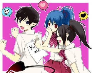 Riiko and Mira with Rin by raviravi228