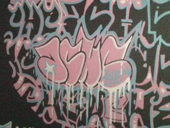 graffiti canvas detail by faustinex