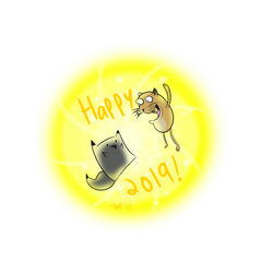 Happy New Years!! by That-Adorable-Cat
