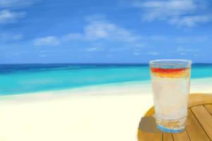 Beach Drink Cocktail by Hupie