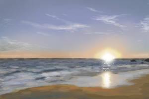 Beach Sunset by Hupie