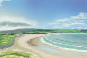 Empty Beach by Hupie