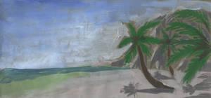 Ocean Beach Palm Trees by Hupie