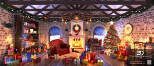 Santas Room Window Dressing by Hupie