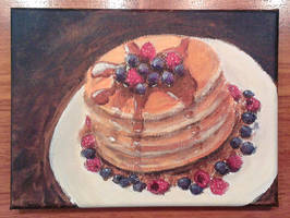 Pancake with fruits by Hupie