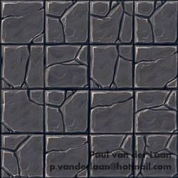 Hand-painted Rock Tile floor texture by Hupie