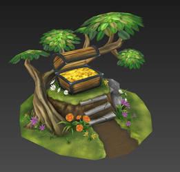 Forest Throne Wip04 by Hupie