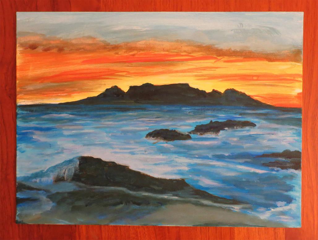 Colorful Sea Landscape by Hupie