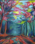 colorful forest by Hupie