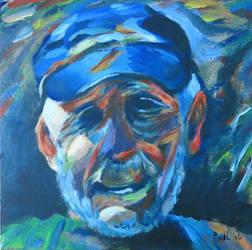 portrait of my dad by Hupie