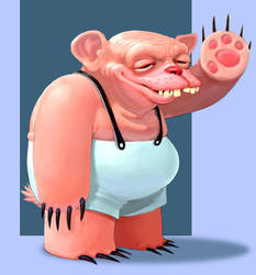 Character Design - Bear son by oddballinc
