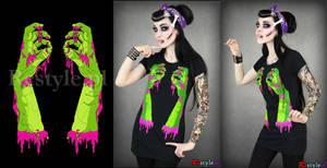 Zombie hands by Euflonica