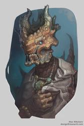 Alien priest portrait by monartt