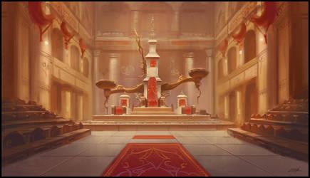 Throne room by Zoriy