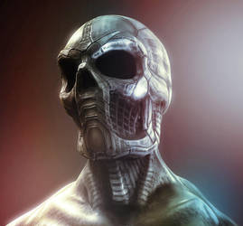 metal skull by Kazlyan
