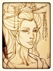 Geisha commission for a tattoo by Lady-Valesya