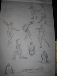 Life Drawing: Later Gesture Drawings by BFan1138