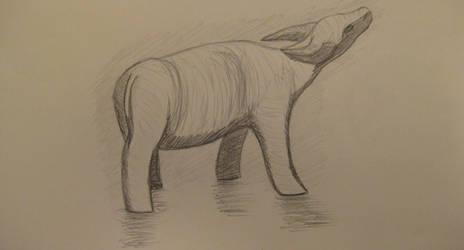 Drawing 2: Water Buffalo by BFan1138
