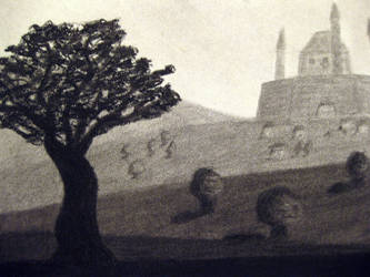 Drawing 2: Castle Closeup 1 by BFan1138