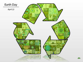 Earth Day Collage -Green- by FlameBlasted