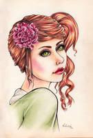 Poeny Flower by Vickimai