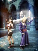 Tifa and Miss Cloud Cosplay by LauraNikoPhantomhive
