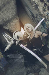 A2 and 2B - NieR Automata by LauraNikoPhantomhive