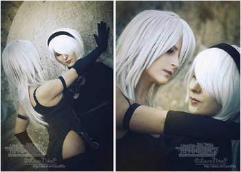 A2 and 2B - NieR Automata (2) by LauraNikoPhantomhive
