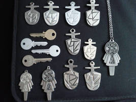 Doctor Who prop TARDIS keys by Hordriss