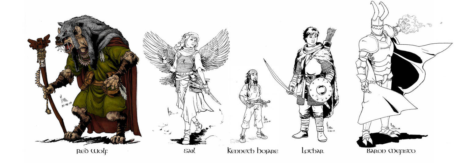 DnD Characters Designs by mepol