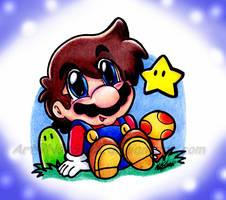 Chibi Mario by NatSilva