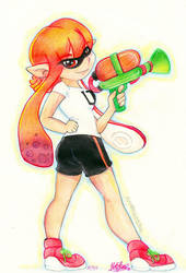 Splatoon: You're a squid now, you're a kid now.. by NatSilva