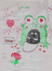 Valentine's Frog by sarenokai