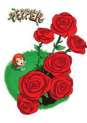 Pepper Big Roses by Hypergon