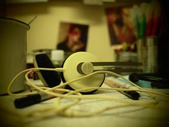 my desk in Senghennydd Court by kydest