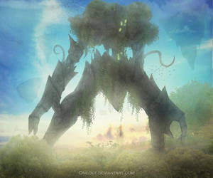 Green colossus by OneOut