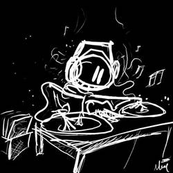 The DJ by moltendreams