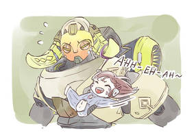 When D.va is with Orisa by Shocolad