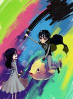 Nightingale and Ebony by isanohohoemi