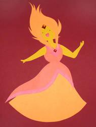 Paper Craft Flame Princess by pyrogina