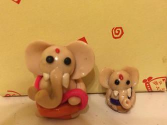 Polymer Clay Ganesh by chikki587
